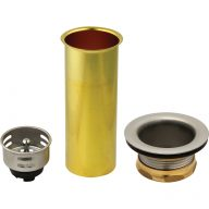 Bar sink strainer assembly with tailpiece